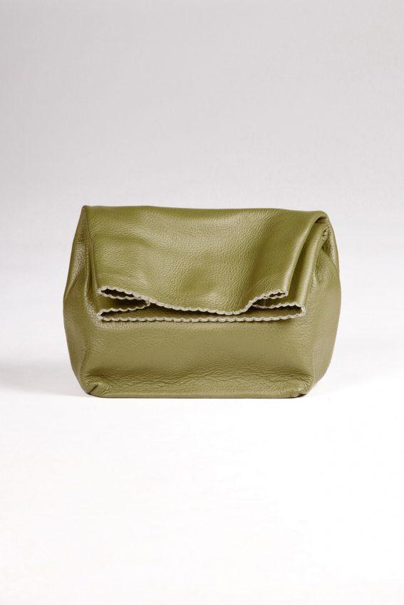 khaki leather